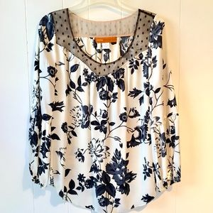 Cynthia Steffe Floral Long Sleeve Blouse